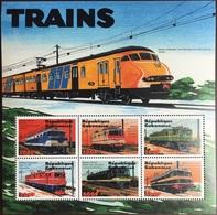 Gabon 2000 Trains Sheetlet MNH - Gabon (1960-...)