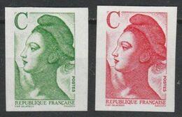 N° 2615/2616** Non Dentelé - Francia