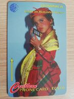 DOMINICA   GPT $ 10,-   CHILD IN NATIONAL DRESS         DOM-11B    11CDMB    Fine Used Card  ** 2813** - Dominica