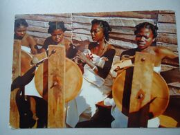 MADAGASCAR  POSTCARDS 1958 GIRLS MUSICS  WITH STAMPS  2 SCAN - Madagaskar