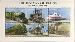 Gambia 2001 History Of Trains Sheetlet MNH - Gambia (1965-...)