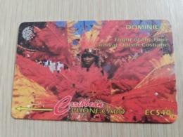 DOMINICA   GPT $ 40,-   CARNIVAL QUEEN COSTUME          DOM-11C    11CDMC    Fine Used Card  ** 2814** - Dominica