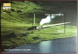 Gambia 2004 Steam Locomotives Trains Minisheet MNH - Gambia (1965-...)
