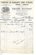 Facture 1/2 Format 1941 / 25 BESANCON / FAVRE / Fabrique De Diamants Pour Vitriers - 1900 – 1949
