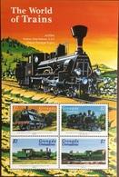 Grenada Grenadines 1999 World Of Trains Sheetlet MNH - Grenada (1974-...)