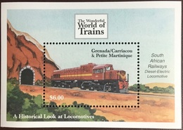 Grenada Grenadines 2000 World Of Trains Minisheet MNH - Grenada (1974-...)