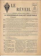 GUERRE 39/45 . LE REVEIL .RESISTANCE A DJIBOUTI .4 PAGES Sans Supplément .N° 141 - Historische Dokumente