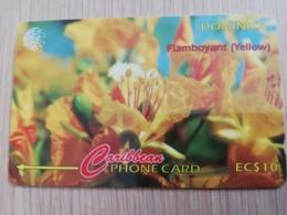 DOMINICA   GPT $ 10,-     FLAMBOYANT YELLOW        DOM-78A    78CDMA   Fine Used Card  ** 2820** - Dominica