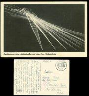 WW II Militär Postkarte: AK Leuchtspuren Beim Nachtschießen Gebraucht Feldpost Iserlohn - Heilbronn 1941 , Bedarfserha - Duitsland