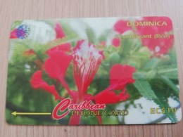 DOMINICA   GPT $ 10,-     FLAMBOYANT  RED        DOM-78B    78CDMB   Fine Used Card  ** 2821** - Dominica