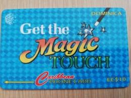 DOMINICA   GPT $ 10,-    MAGIC TOUCH        DOM-78C    78CDMC   Fine Used Card  ** 2822** - Dominica