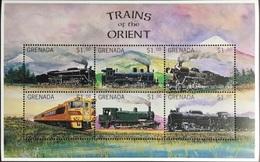 Grenada 1996 Trains Of The Orient Sheetlet MNH - Grenada (1974-...)