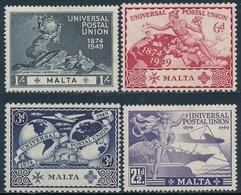 Malta 1949 ** 75 Anivesario De La U.P.U. (4 Valores) 00218/21 - Malta