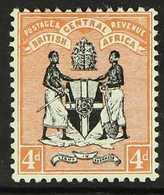 1895 4d Black & Reddish Buff No Watermark, SG 23, Very Fine Mint, Fresh. For More Images, Please Visit Http://www.sandaf - Nyasaland (1907-1953)