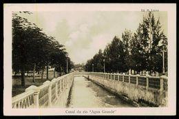 """SÃO TOMÉ E PRÍNCIPE - Canal Do Rio """" Agua Grande"""".  ( Ed. M. Lopes) Carte Postale - São Tomé Und Príncipe"""