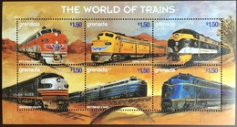 Grenada 1999 World Of Trains Sheetlet MNH - Grenada (1974-...)