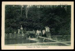 """SÃO TOMÉ E PRÍNCIPE - Tanques Da """" Agua Amoreira"""".  ( Ed. M. Lopes) Carte Postale - São Tomé Und Príncipe"""