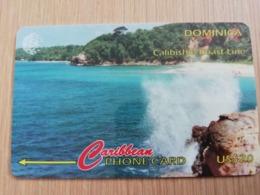 DOMINICA   GPT $ 20,-    CALIBISHIE COASTLINE         DOM-106A   106CDMA   Fine Used  Card  ** 2824** - Dominica