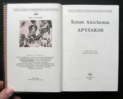 Lithuanian Book / Apysakos Sholem Aleichem 1987 - Libros, Revistas, Cómics