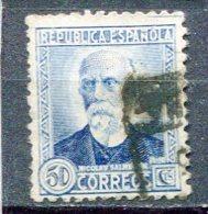 Yv. 1935  N°  533   (o)   Salmeron  Cote  3  Euro  BE - 1931-Aujourd'hui: II. République - ....Juan Carlos I