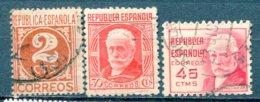 Yv. 1936  N°  557,559,562  (o)  2,30,45c  Personnalités  Cote  0,45  Euro  BE - 1931-Aujourd'hui: II. République - ....Juan Carlos I