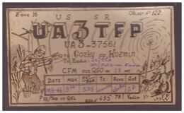 Russia QSL Card Sent To Estonia,1964,Gorky,op.Kuzmin - Radio Amateur