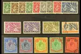 1938-44 Complete Definitive Set, SG 130/143, Very Fine Used. (18 Stamps) For More Images, Please Visit Http://www.sandaf - Nyasaland (1907-1953)
