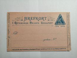 Brefkort GÖTEBORGS Privata Lokalpost - Postwaardestukken