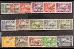 "1938 SPECIMENS. ""Freetown & Rice Harvesting"" Complete Punctured ""Specimen"" Set, SG 188s/200s, Very Fine Mint. Scarce Set - Sierra Leone (...-1960)"