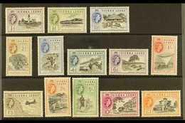 1956 Complete Definitive Set, SG 210/22, Never Hinged Mint (13 Stamps) For More Images, Please Visit Http://www.sandafay - Sierra Leone (...-1960)