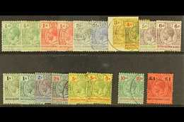 1914-23 Complete Set, SG 22/38, Plus Additional Listed ½d, 1d, 1s And 5s Shades, Fine Cds Used. (18 Stamps) For More Ima - British Solomon Islands (...-1978)