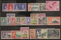 1937-52 COMPLETE KGVI MINT COLLECTION Presented On A Stock Card, Coronation To UPU, SG 57/80, Very Fine Mint (24 Stamps) - British Solomon Islands (...-1978)