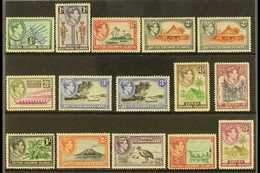 1939-51 Complete Definitive Set With Additional Listed Perforation Variants, SG 60/72, Fine Mint (15 Stamps) For More Im - British Solomon Islands (...-1978)