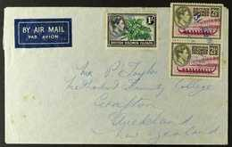 BARAKOMA AIRFIELD- MANUSCRIPT CANCELLATIONS 1954 (31 Aug) Air Mail Envelope Addressed To Mr P.Taylor, Methodist Trinity - British Solomon Islands (...-1978)
