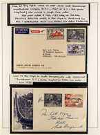 BARAKOMA AIRFIELD- MANUSCRIPT CANCELLATIONS 1953-1955 Collection Of Covers With Different Manuscript Cancels. Comprises - British Solomon Islands (...-1978)