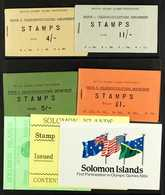 COMPLETE BOOKLETS 1959-1984 Complete Run, SG SB1 Through To SG SB7, Very Fine Condition. (7 Booklets) For More Images, P - British Solomon Islands (...-1978)