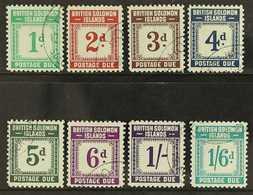 POSTAGE DUE 1940 Complete Set, SG D1/D8, Very Fine Used. (8 Stamps) For More Images, Please Visit Http://www.sandafayre. - British Solomon Islands (...-1978)