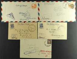 """WORLD WAR TWO ARMY COVERS 1943-1945 Censored Covers Bearing """"R.N.Z.A.F."""", """"U.S. Army Postal Service"""", """"N.Z.E.F."""" Or """"Fie - British Solomon Islands (...-1978)"""