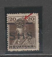 "☀ SHS CROATIA 1918, KARLO Great Typical Print Error ""BROKEN WHEEL"". Hungary Royal C MNH Carl - Croacia"