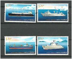China 2015 Ships, Shipbuilding. 2015-10,   Mi 4679-4682 MNH(**) - 1949 - ... République Populaire