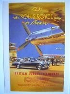 Avion / Airplane / BRITISH AIRWAYS / Vickers Viscount / Advertising Card - 1946-....: Ere Moderne