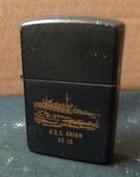 ZIPPO - U.S.S. ORION  AS 18  -  Noir, Année 1991 - RT - 12 - Zippo