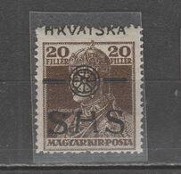 ☀ SHS CROATIA 1918, KARLO Nice Variety MOVED, SHIFTED OVERPRINT . Hungary Royal C MNH Carl - Croacia