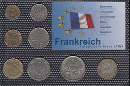 Frankreich: Kürsmünzensatz Mit 8 Münzen, Geprägt 1971/1998 - Münzen