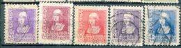 Yv. 1938  N° 658 à 661, 663 (o)  Isabelle  Cote  2,45  Euro  BE - 1931-Aujourd'hui: II. République - ....Juan Carlos I
