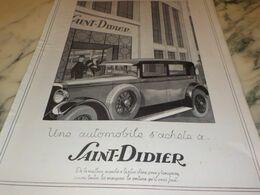 ANCIENNE PUBLICITE   MAGASIN  SAINT DIDIER  1927 - Cars
