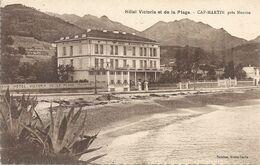 CPA Cap-Martin Hôtel Victoria Et De La Plage - Other Municipalities