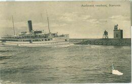 Stavoren 1916; Aankomst Veerboot Hasselt - Gelopen. (Wed. J. Van Gelder - Leeuwarden) - Stavoren