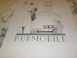 ANCIENNE  PUBLICITE   VOITURE DE RACE  HUPMOBILE 1927 - Cars