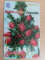DOMINICA   GPT $ 20,-    RUBIES AMIDTS EMERALDS    DOM-138Ba   138CDMMB  ( WRONG SERIAL NR) Fine Used  Card  ** 2831** - Dominica